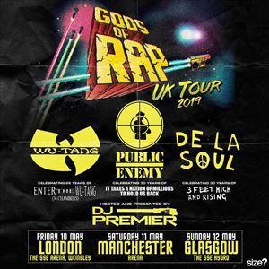 GODS OF RAP : Wu-Tang, Public Enemy et De la soul pour une mini-tournée