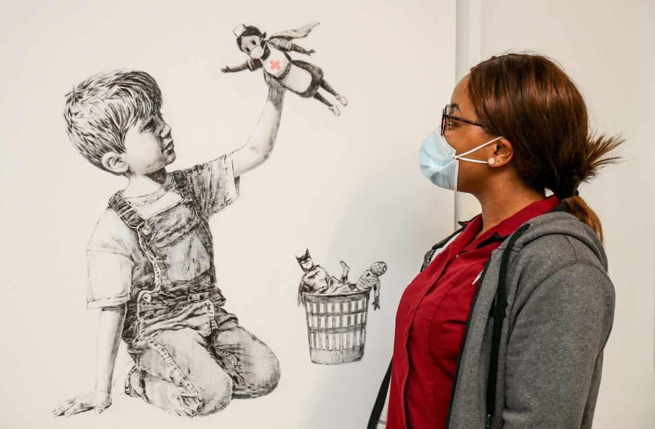 Un Banksy vendu pour le reverser au service de santé britannique