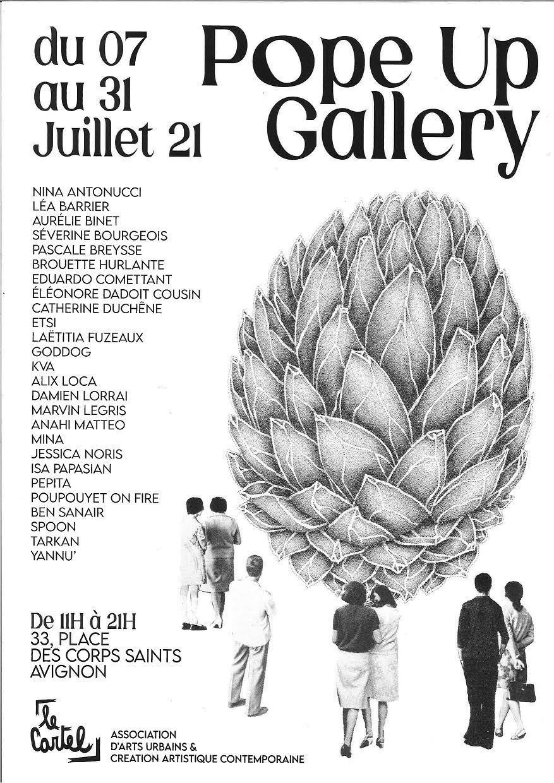 POPE UP GALLERY - du 7 au 31 juillet /Avignon