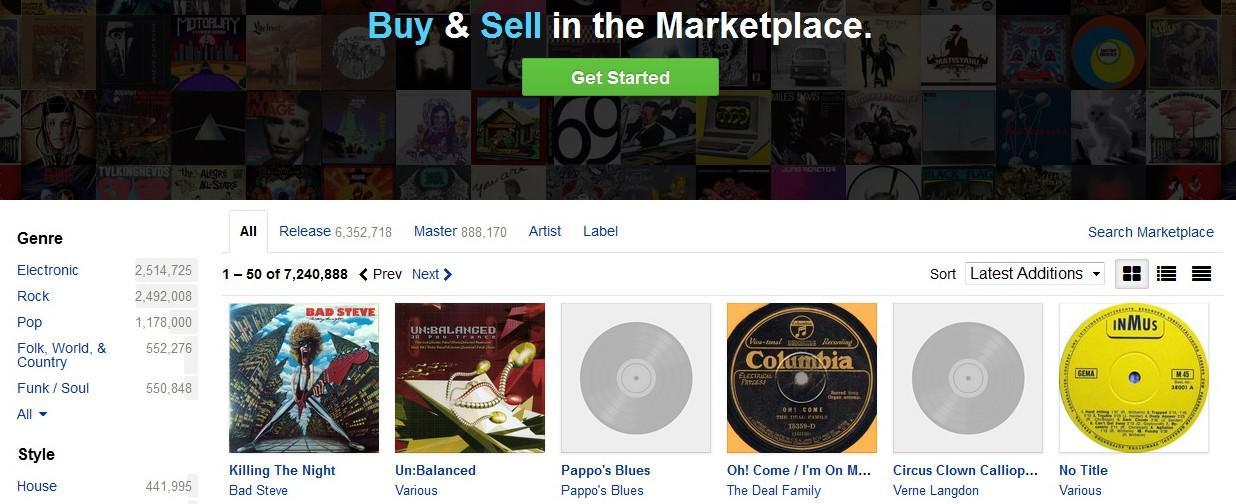 Discogs lance son application