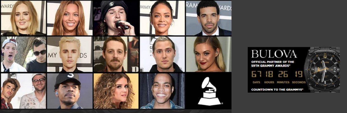 Grammy Awards 2017, tous les nommés