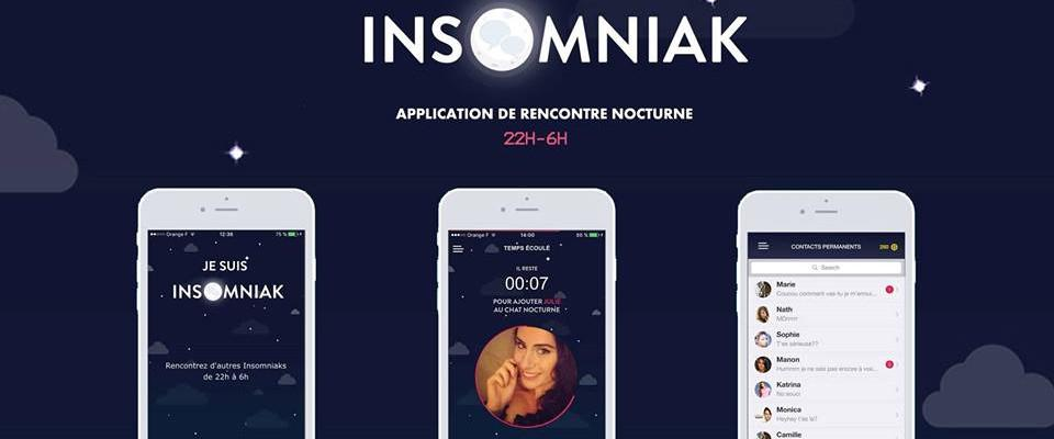 Insomniak, une application de rencontres pour noctambules