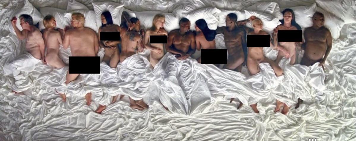 kanye west frappe fort avec le clip de famous raje. Black Bedroom Furniture Sets. Home Design Ideas