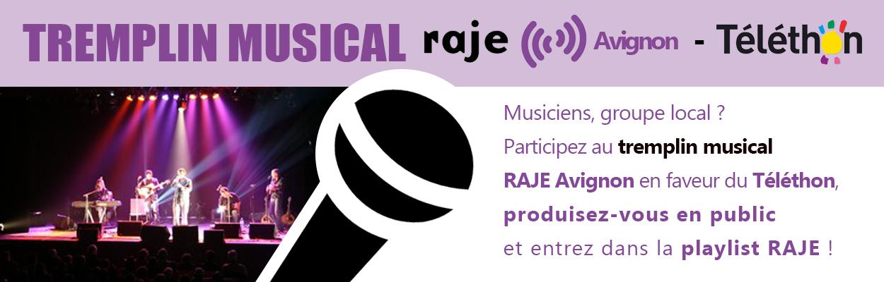 Participez au tremplin musical RAJE Avignon à l'occasion du Téléthon !